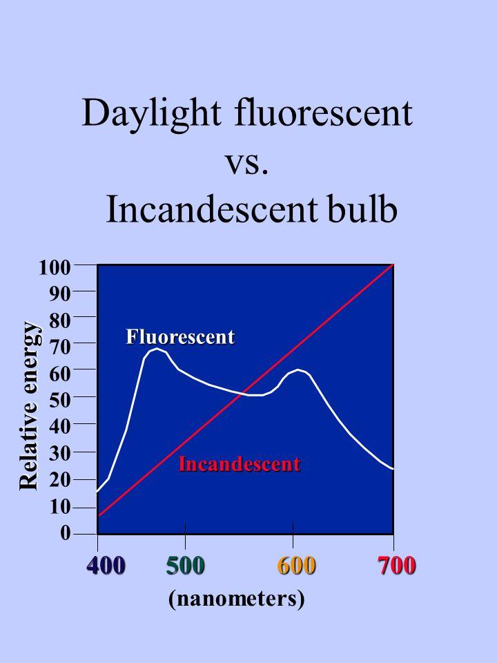 Daylight fluorescent vs.