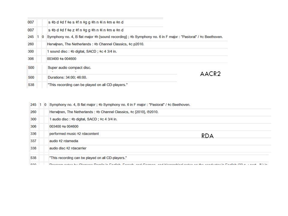 AACR2 RDA