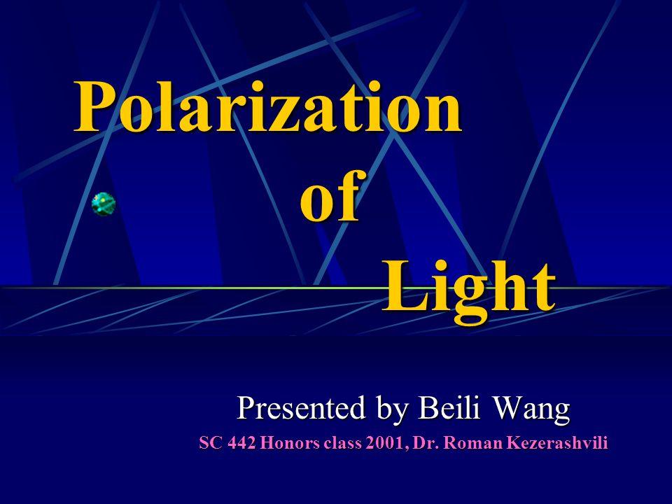 Objective 1.Study the polarization of light 2.