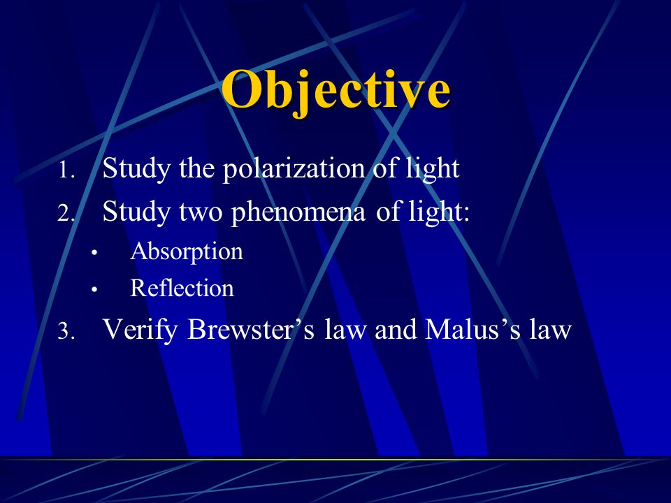 Theory 1.Two properties of light a.