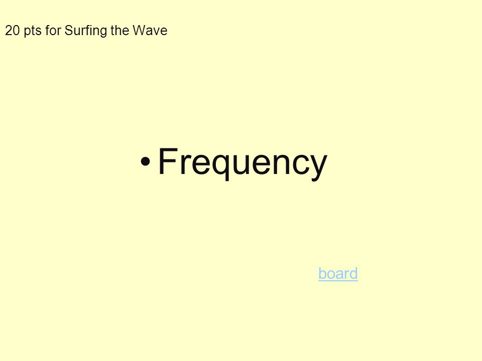 20pts for Surfing a Wave The number of waves in a time period is __________ AAAA
