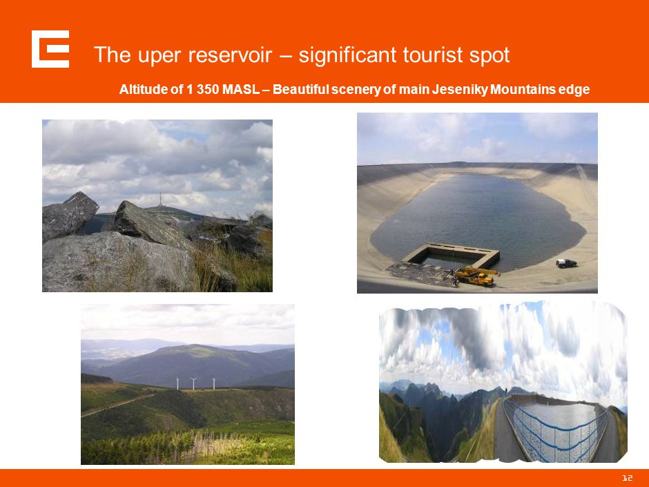 12 The uper reservoir – significant tourist spot Altitude of 1 350 MASL – Beautiful scenery of main Jeseniky Mountains edge