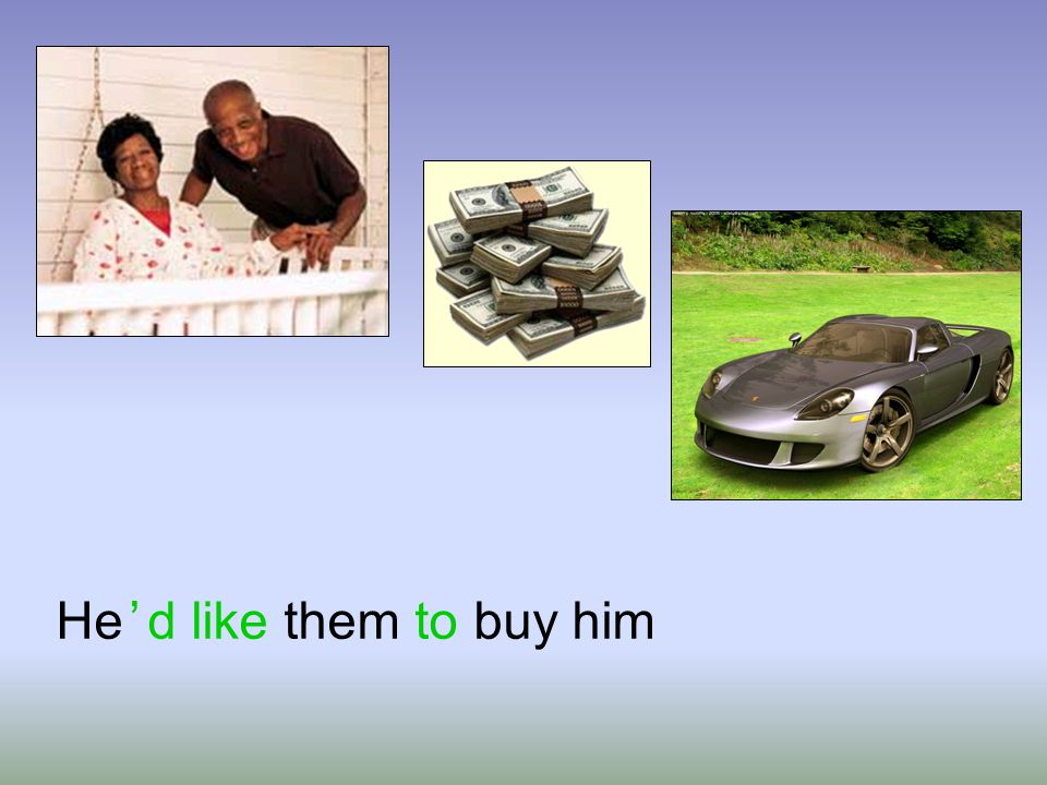 He ' d like them to buy