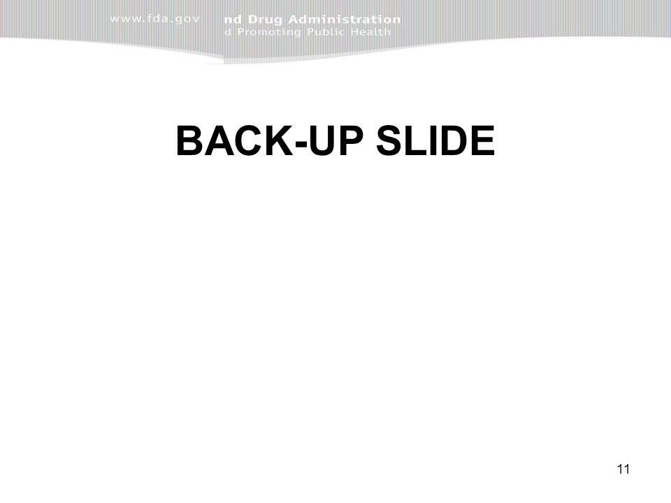 11 BACK-UP SLIDE