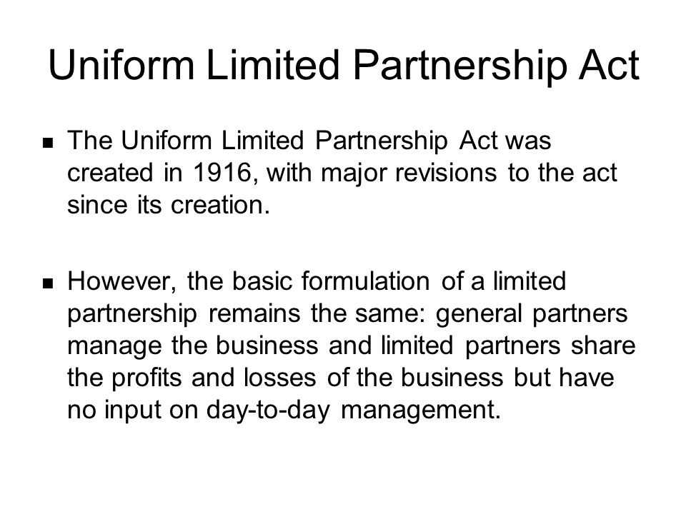 Differences between Limited Partnerships and General Partnerships The most important difference between general partnerships and limited partnerships is the issue of limited liability.