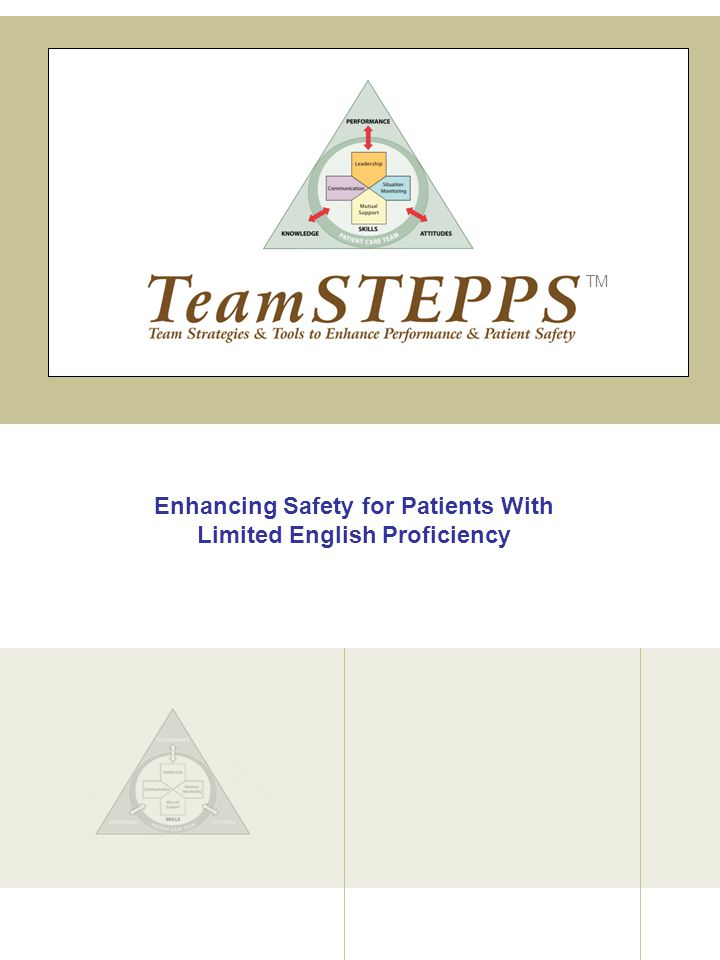 Enhancing Safety for Patients With Limited English Proficiency TM