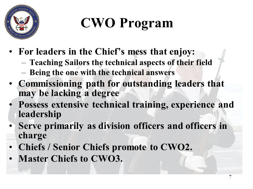 LDO Eligibility U.S. citizen No age restriction High School Diploma or equivalent Serving as a MCPO, SCPO, CPO or PO1 At least 8, but not more than 14