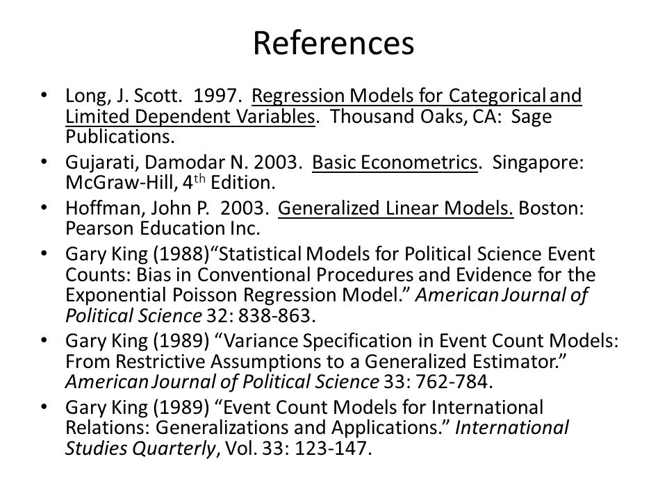 References Long, J. Scott