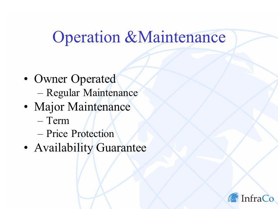 Fuel Supply Plant Operating Characteristics –Minimum Take Price Formula –Matching Energy Payment Delivery Risk Security Package Termination