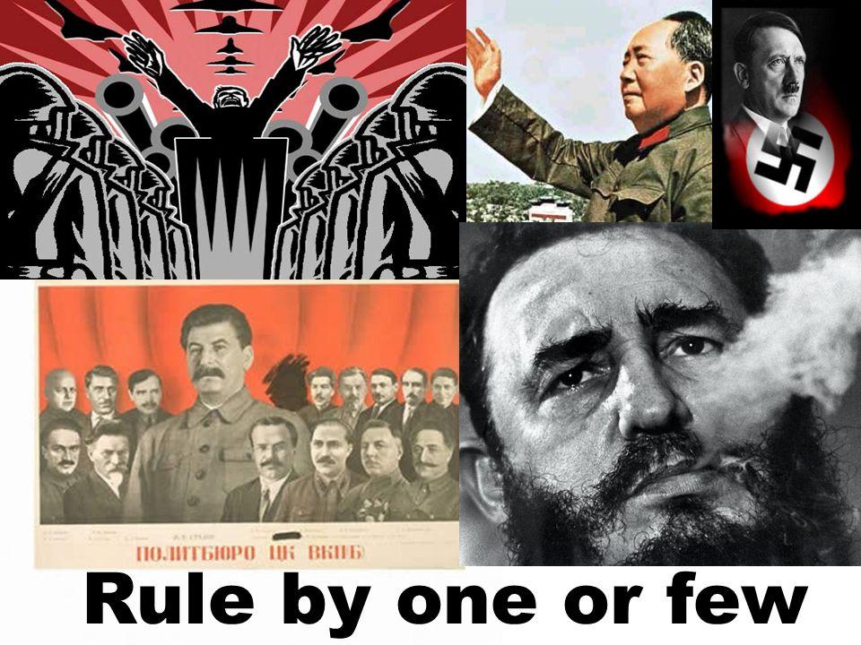 Rule by one or few