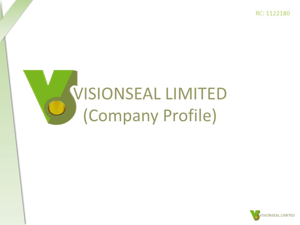 VISIONSEAL LIMITED (Company Profile) VISIONSEAL LIMITED RC: 1122180