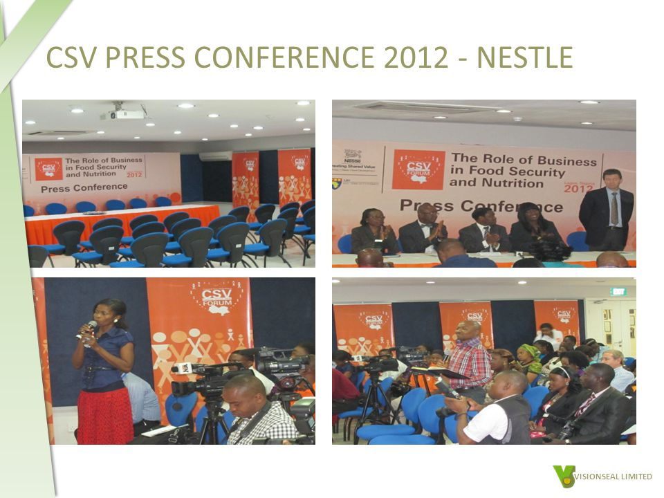 CSV PRESS CONFERENCE 2012 - NESTLE VISIONSEAL LIMITED