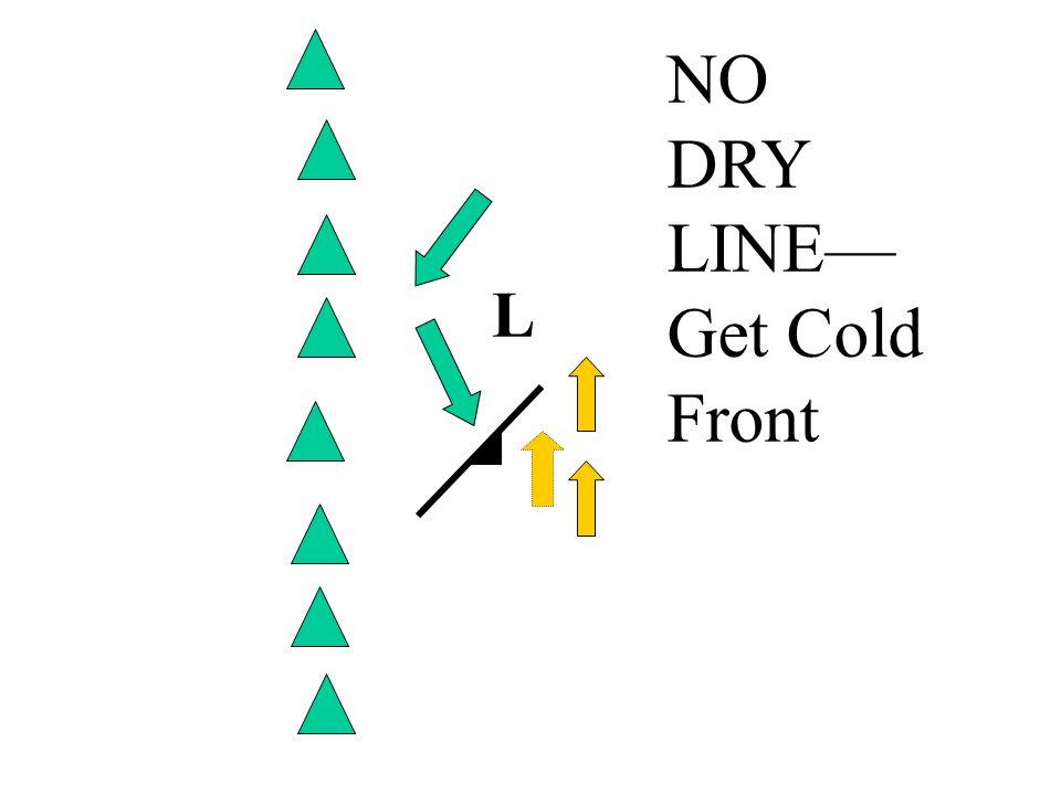 L NO DRY LINE— Get Cold Front