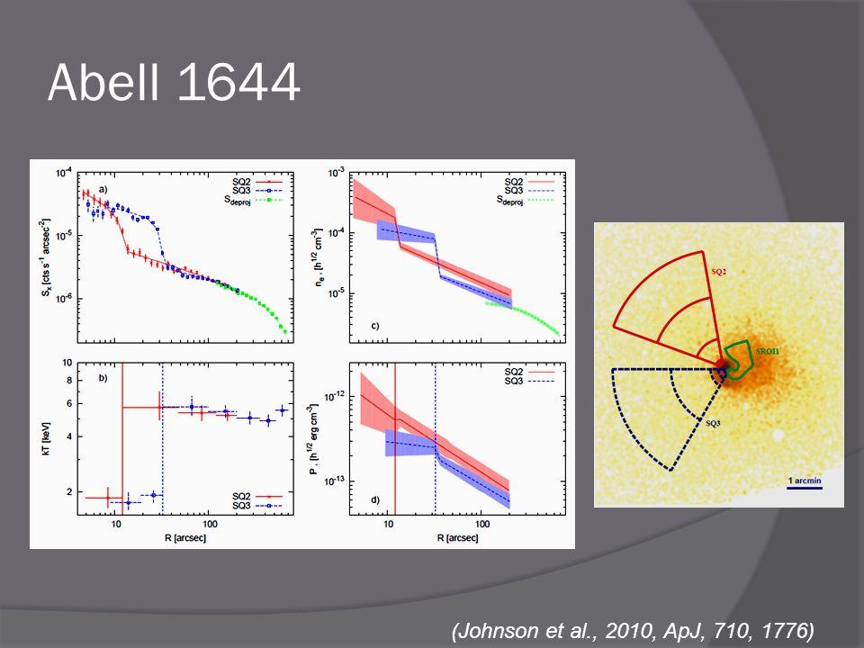 Abell 1644 (Johnson et al., 2010, ApJ, 710, 1776)