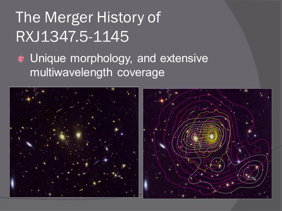The Merger History of RXJ Unique morphology, and extensive multiwavelength coverage