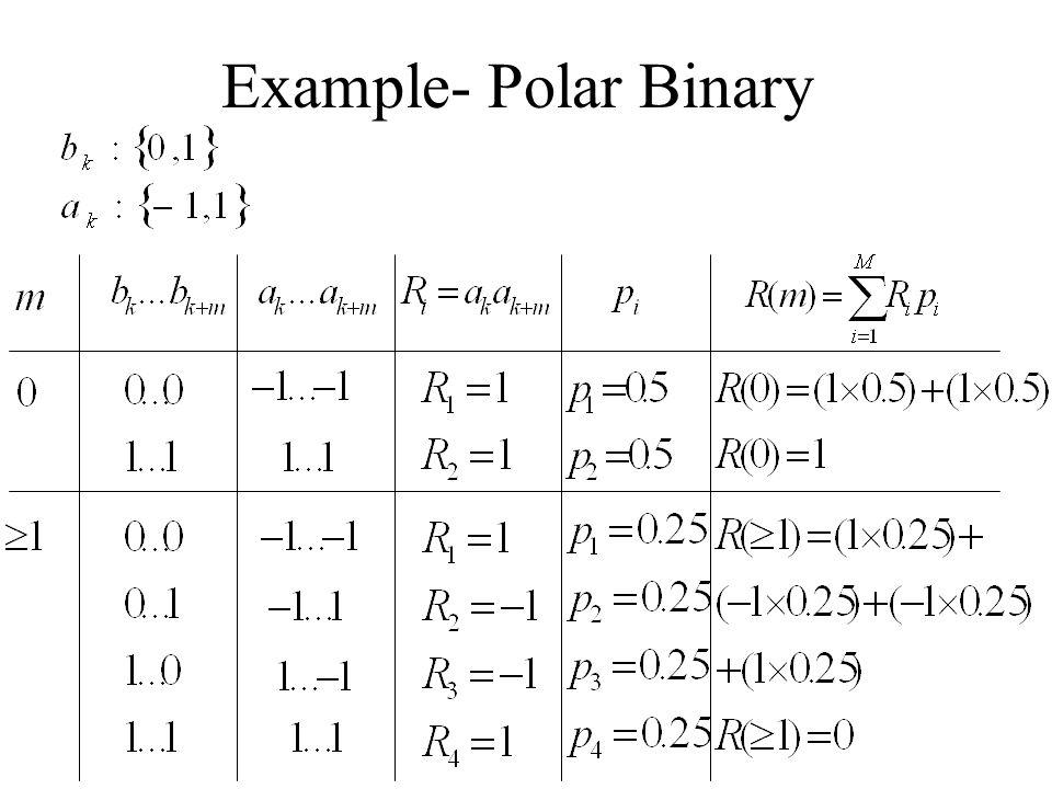 Example- Polar Binary