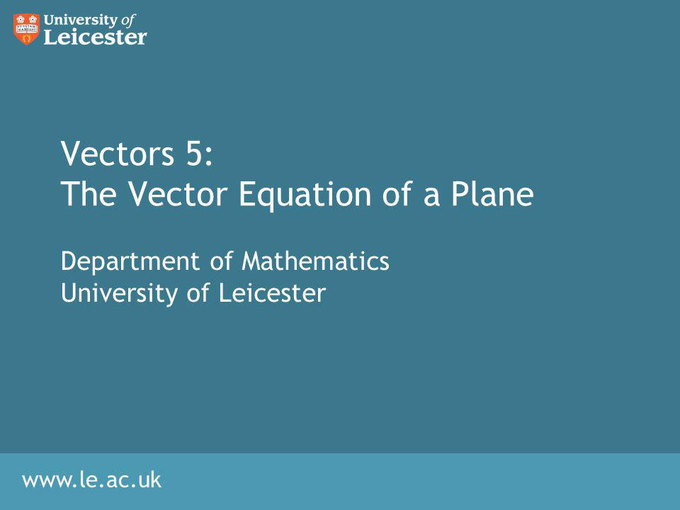 Intersection of Lines with Planes Algebra 1.No solution: The line is parallel to the plane 2.Single solution: The line intersects the plane in one point Substitute and into the equation for P to find the intersection point.