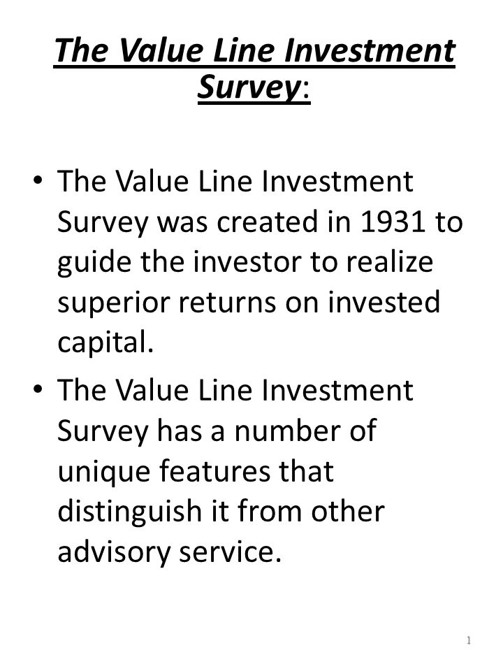 11 The Value Line Investment Survey: Timeliness Ranking System Average performance.