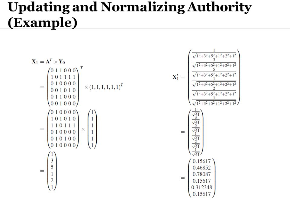 Updating and Normalizing Authority (Example)