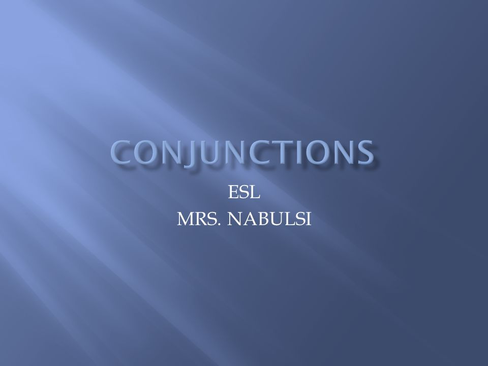 ESL MRS. NABULSI