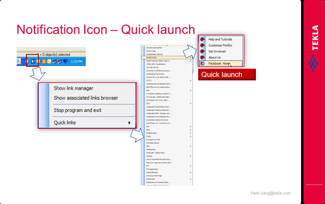 Notification Icon – Quick launch Quick launch