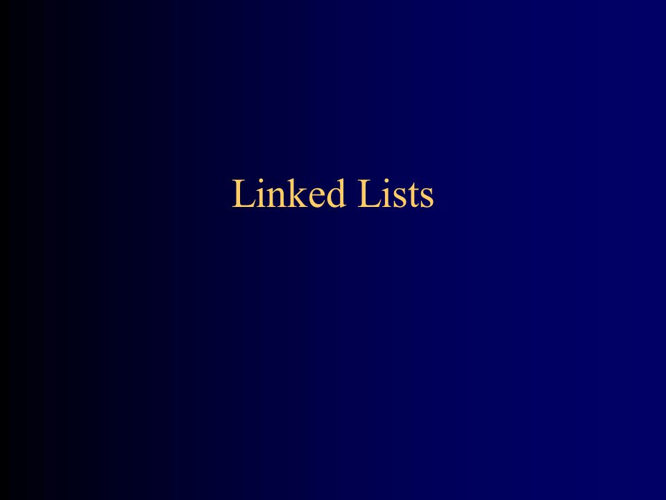 Linked Lists