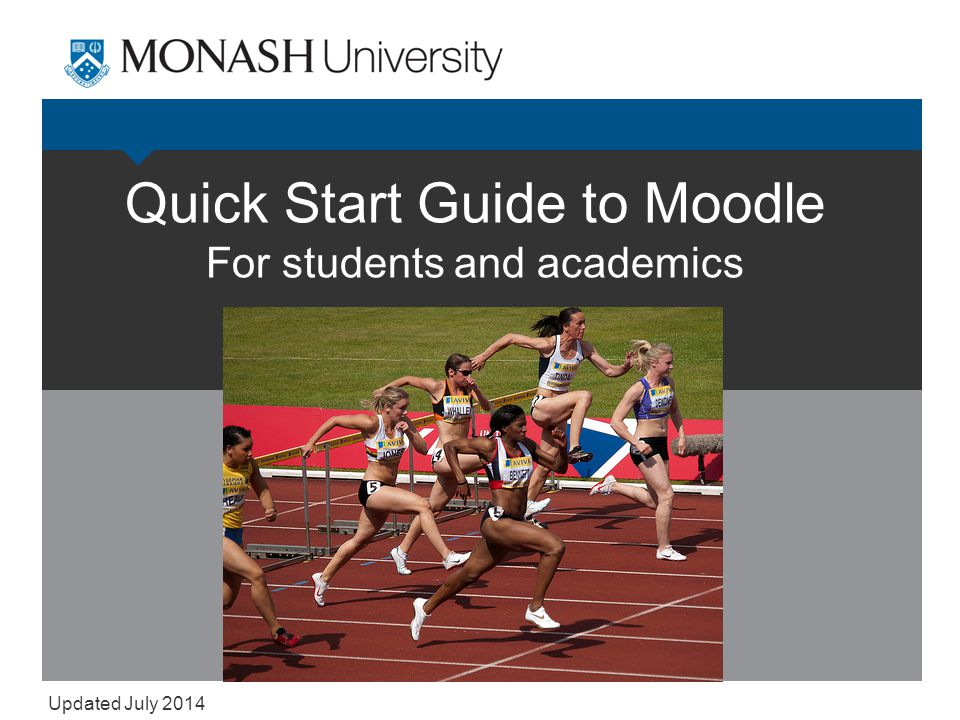 The basics 1.Finding Moodle.
