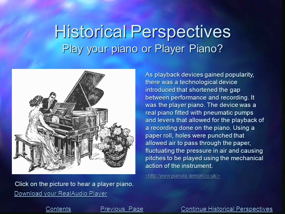 As playback devices gained popularity, there was a technological device introduced that shortened the gap between performance and recording. It was th