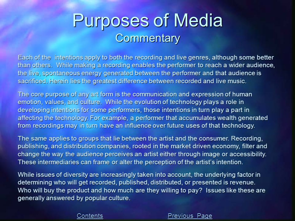 The core purpose of any art form is the communication and expression of human emotion, values, and culture. While the evolution of technology plays a