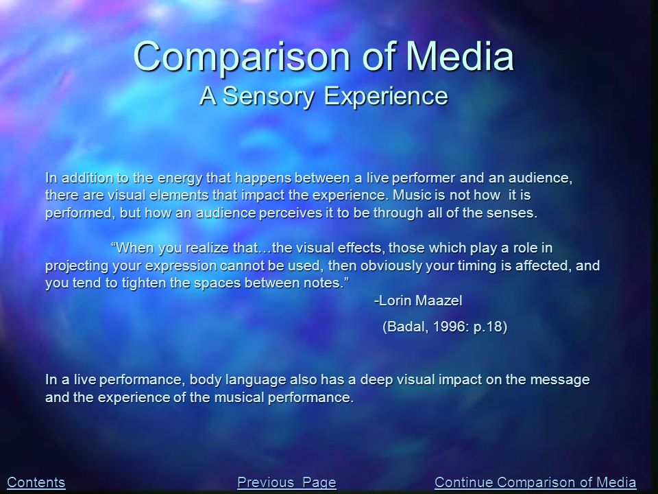 In addition to the energy that happens between a live performer and an audience, there are visual elements that impact the experience.