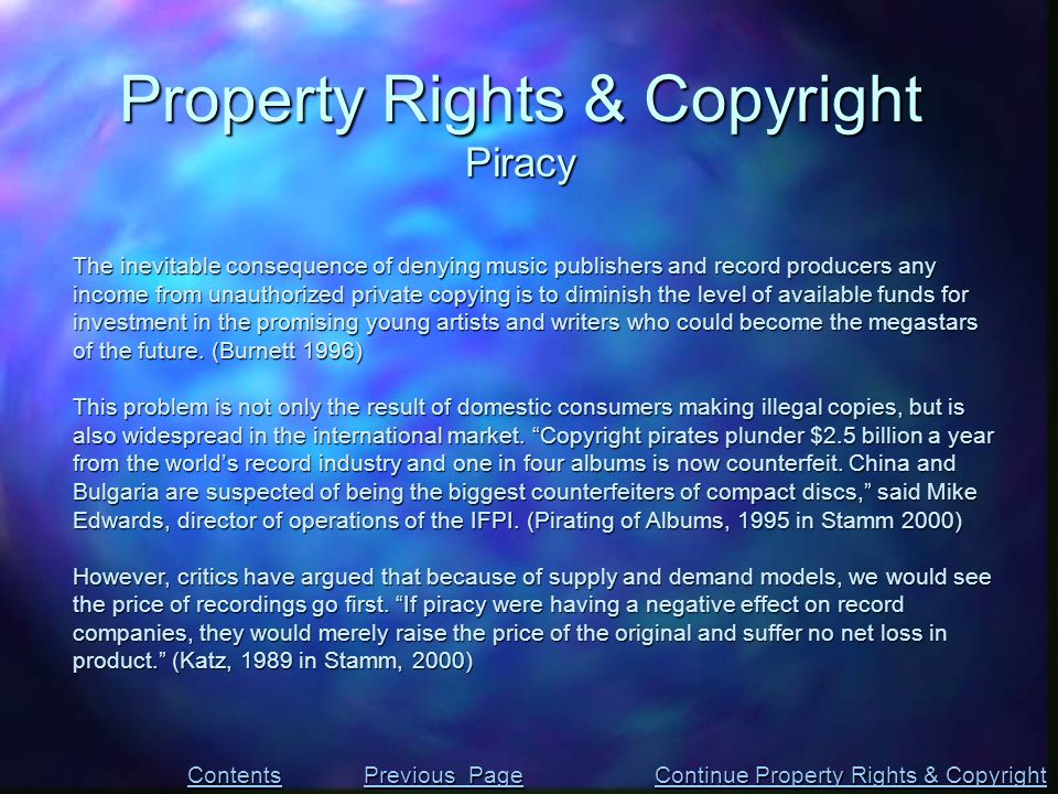 The inevitable consequence of denying music publishers and record producers any income from unauthorized private copying is to diminish the level of a