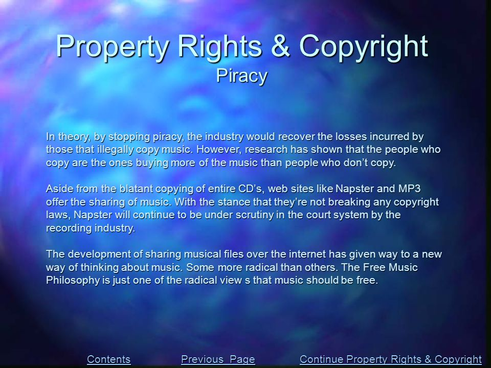 In theory, by stopping piracy, the industry would recover the losses incurred by those that illegally copy music. However, research has shown that the