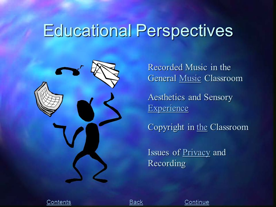 Recorded Music in the General Music Classroom Music Copyright in the Classroom the Issues of Privacy and Recording Privacy Aesthetics and Sensory Expe