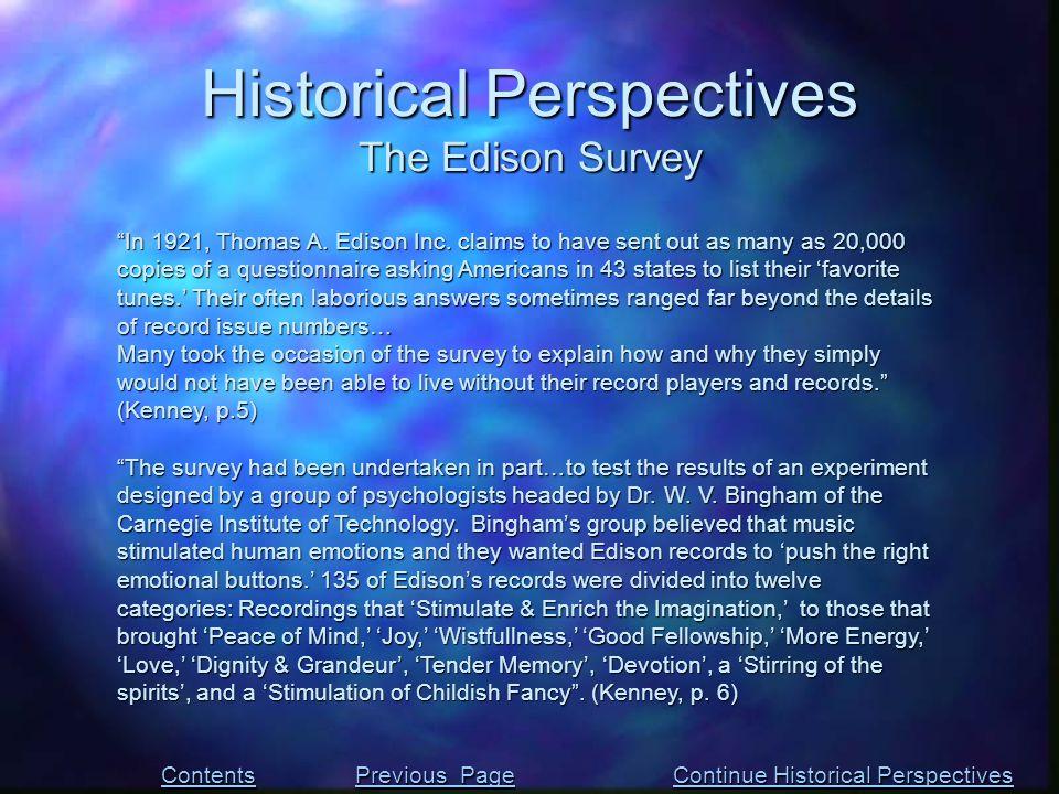 In 1921, Thomas A. Edison Inc.