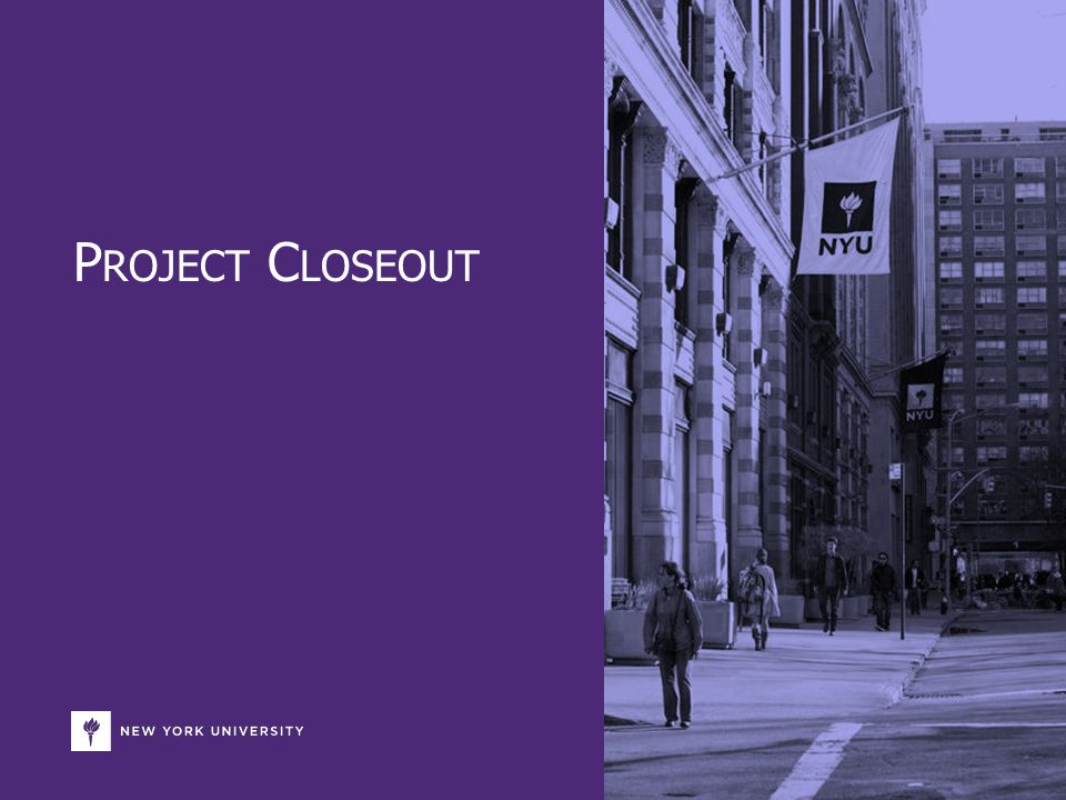 Introduction This purpose of this presentation is to summarize key project closeout information and feedback for purposes of presenting to Executive Sponsors and/or Steering Committees.