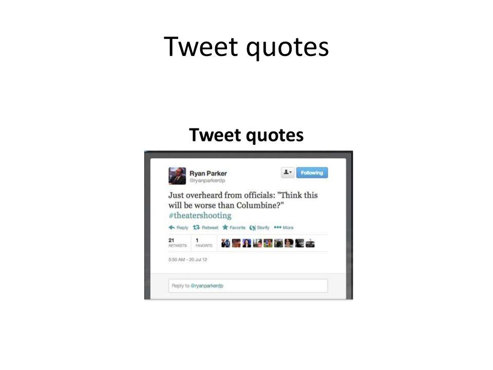 Tweet quotes