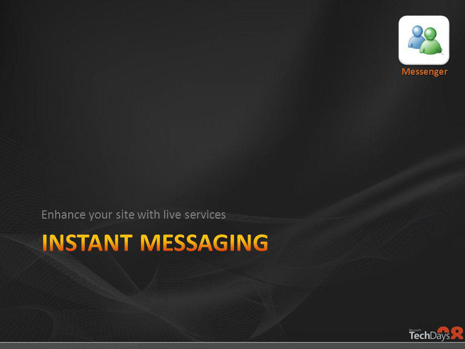 Enhance your site with live services Messenger