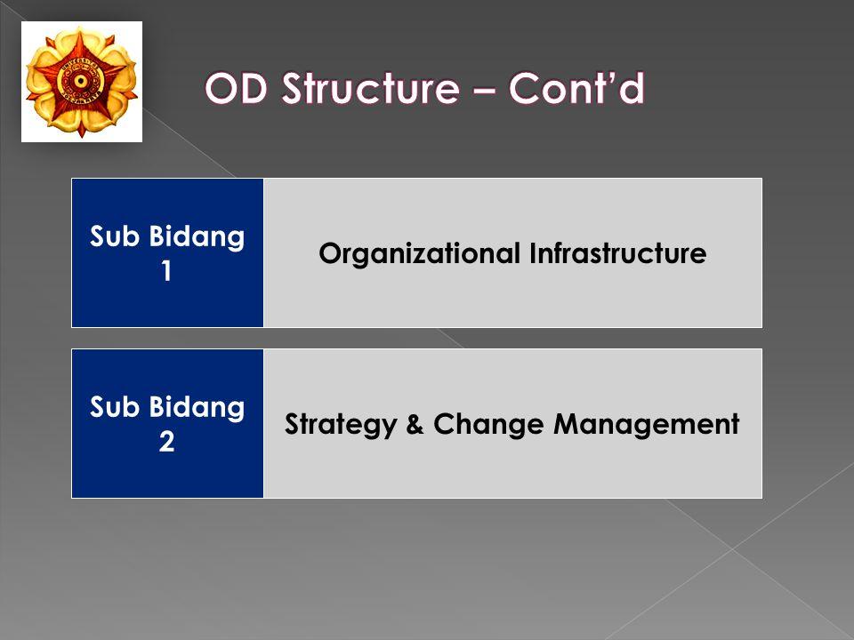 Organizational Infrastructure Sub Bidang 1 Sub Bidang 2 Strategy & Change Management