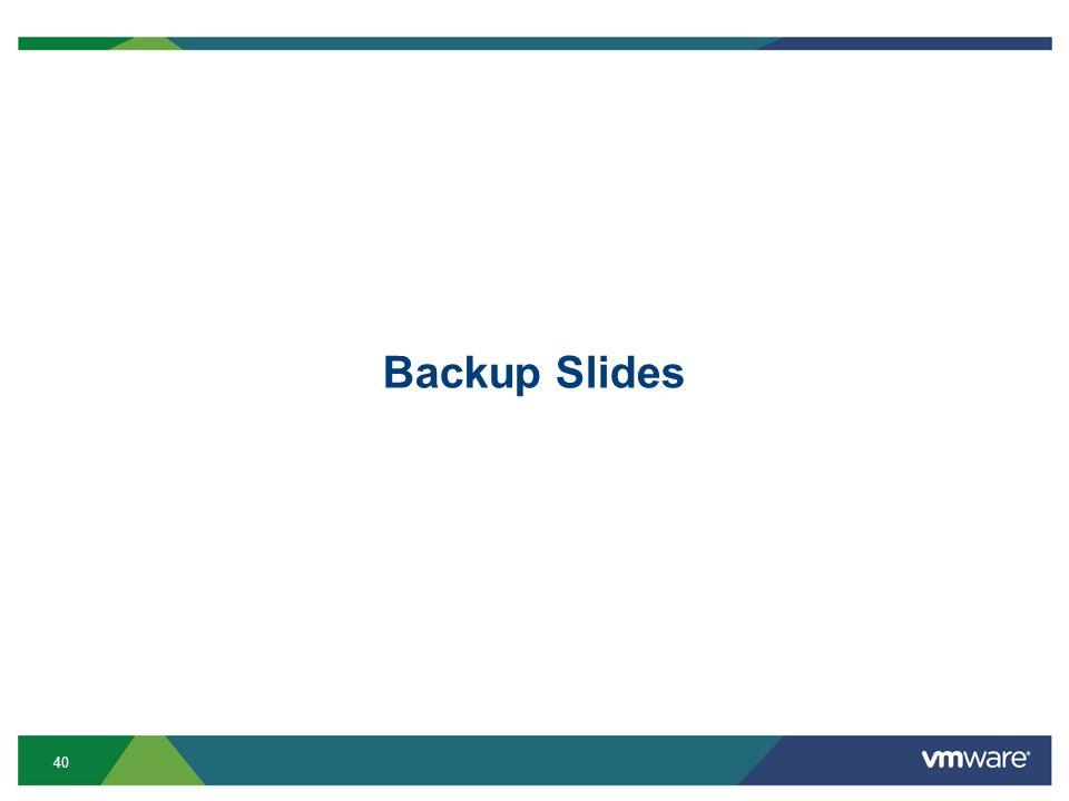 40 Backup Slides