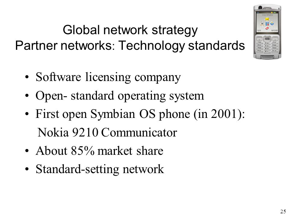 26 Global network strategy Franchise networks Advantages Rapid international growth Local ownership Local management Lower capital outlays Disadvantages Search cost of finding franchise owners overseas Costs of monitoring performance across borders Transaction costs of forming franchise contracts in other country remains