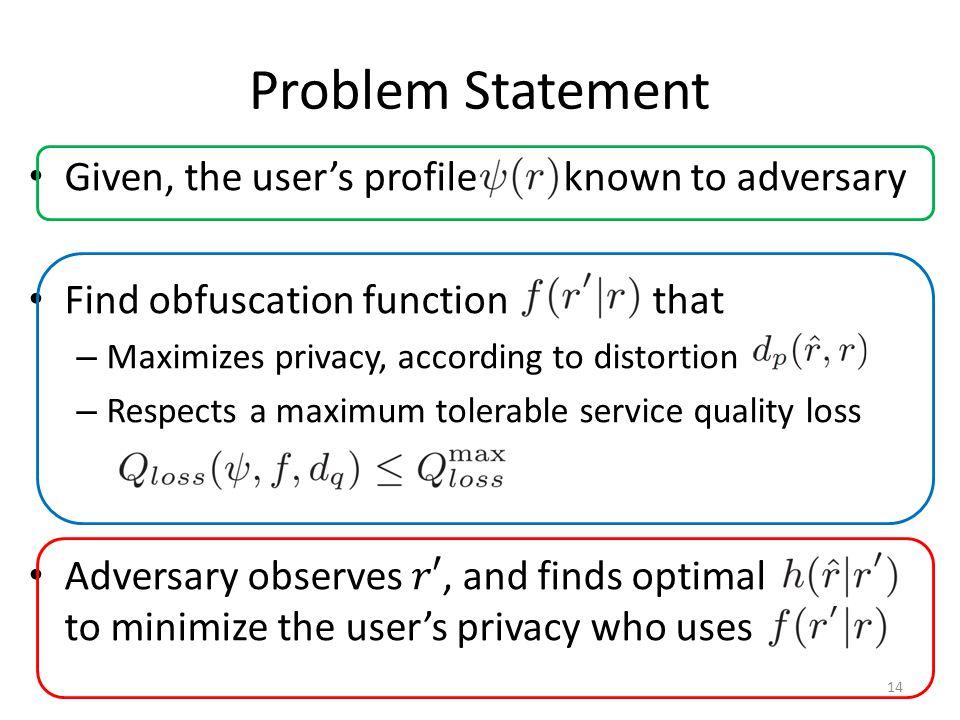 Problem Statement 14