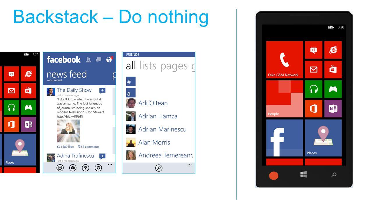 Backstack – Do nothing