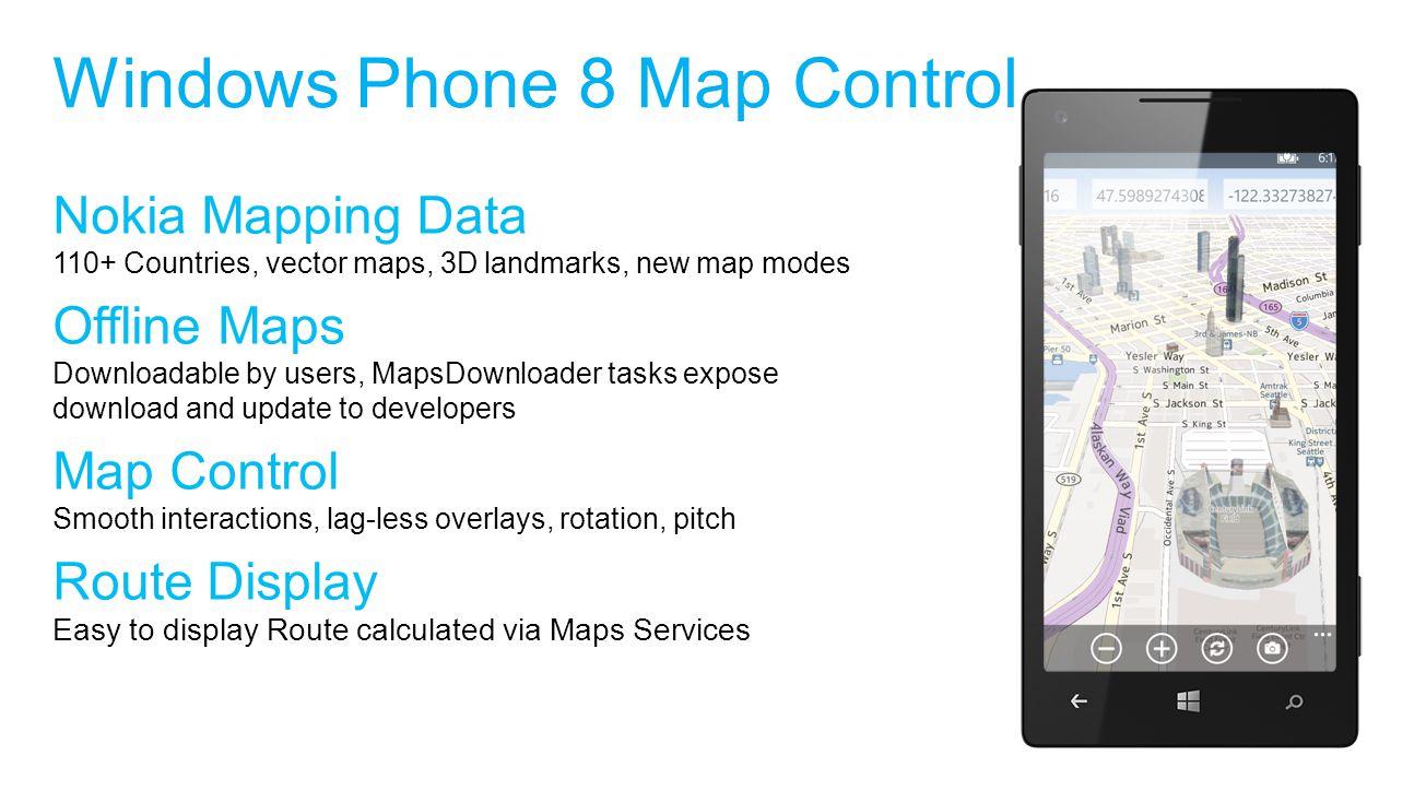 Windows Phone 8 Map Control