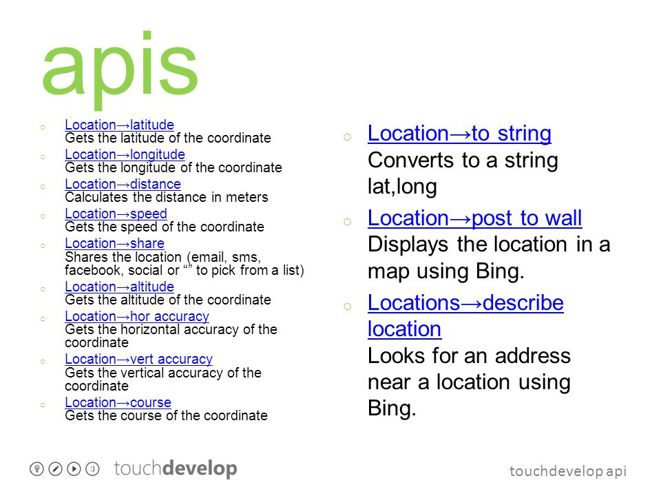 touchdevelop api apis o Maps→create map Creates a Bing map.