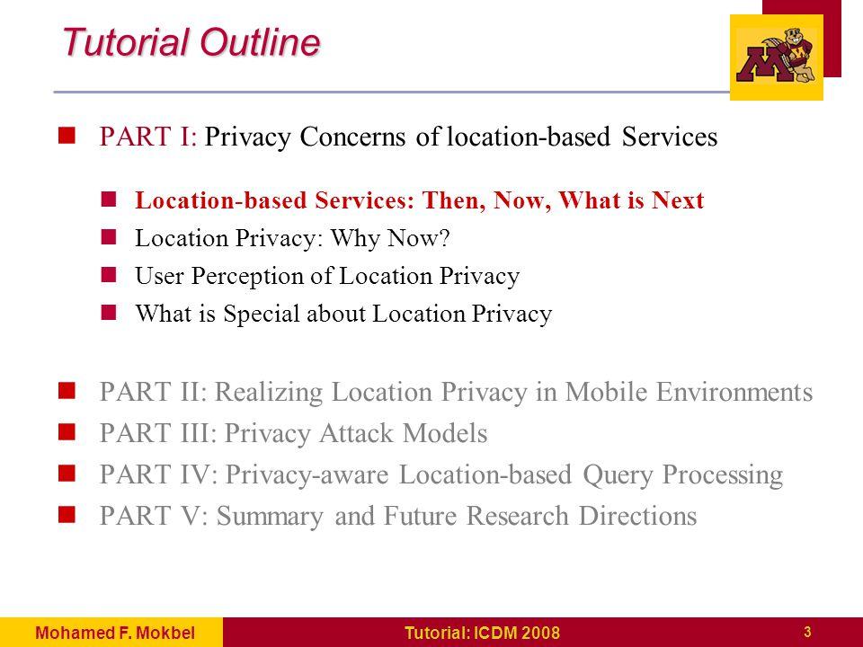 134 Tutorial: ICDM 2008Mohamed F.Mokbel References [Bha03] Anuket Bhaduri.