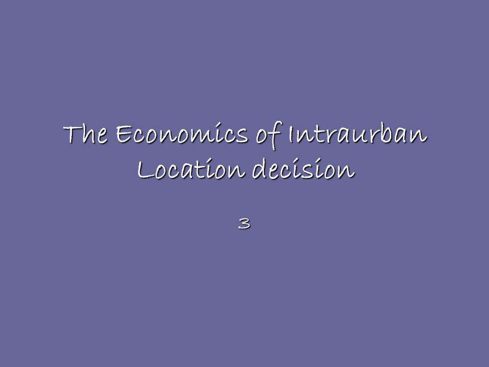 The Economics of Intraurban Location decision 3