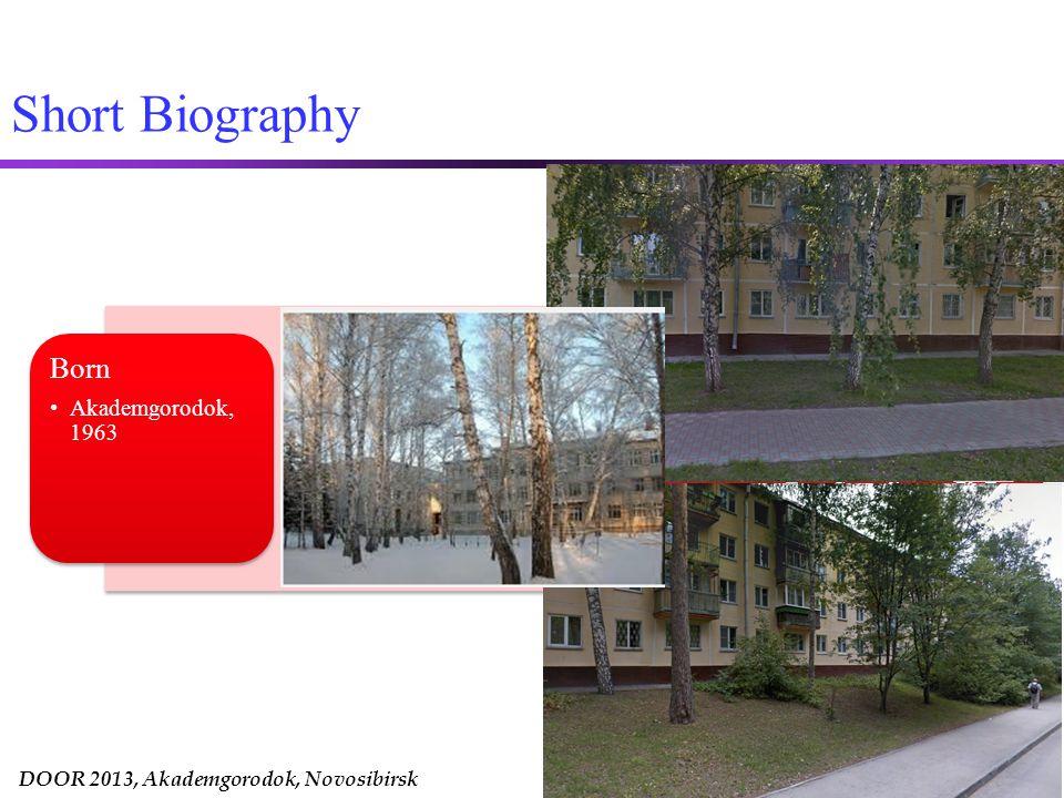 DOOR 2013, Akademgorodok, Novosibirsk Rotman School of Management Ph.D.