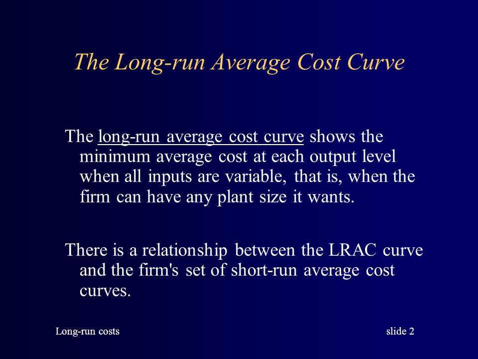 slide 13 Long-run costs Naturally monopolies have long-run average cost curves that look like this: $/Q Q LRAC Electric power generation in a local market
