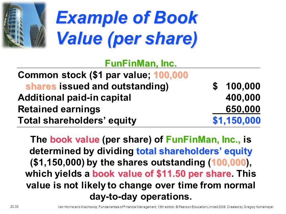 20.33 Van Horne and Wachowicz, Fundamentals of Financial Management, 13th edition. © Pearson Education Limited 2009. Created by Gregory Kuhlemeyer. Ex