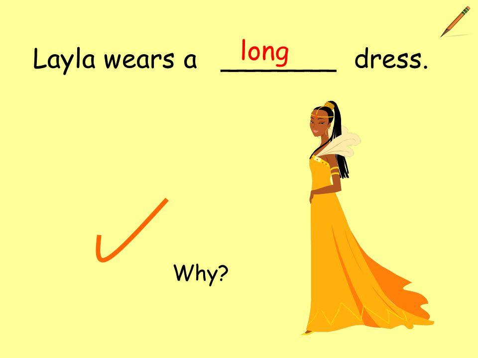 Layla wears a _______ dress. long Why?